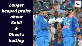 Watch: Virat & Dhoni's innings is a brilliant tutorial for our young batters, says Langer