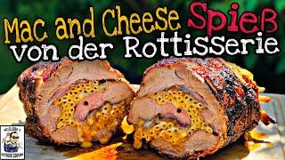 #274 - Mac´n Cheese Spießbraten // Nackenbraten von der Rottiserie