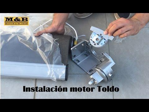 Instalación motor Toldo
