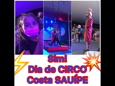 CIRCO  Hoje  dia de Circo. Vlog da Larifer no Circo  Costa do Saupe.
