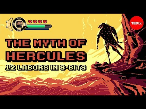 This glorious 8-bit animation of the 12 labors of Hercules would make for a beautiful platform game!