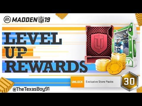 What is in Every The Level Up Exclusive Pack 1-30 | Get Free Level Master Ricky Williams | Madden 19