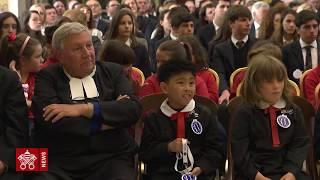 Papa Francesco udienza comunità dei Fratelli delle Scuole Cristiane, 2019-05-16