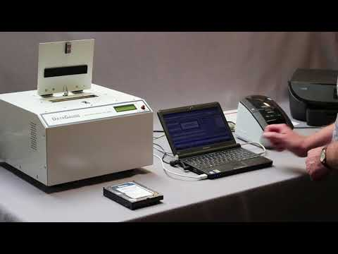 Video of the Verity DataGauss LG Continuous Pulse Discharge Degausser with Erasure Log Software Shredder