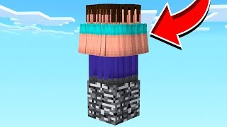 500 FANS vs ONE BLOCK IN MINECRAFT!