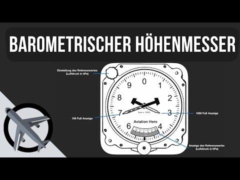 Wie funktioniert der barometrische Höhenmesser?