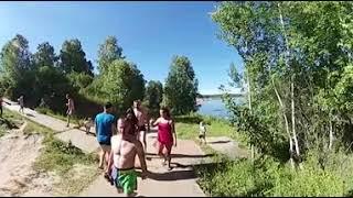 Мостик Пищерский водопад видео 360