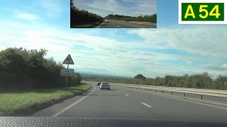 preview picture of video 'A54 - Kelsall to Tarvin - Front View with Rearview Mirror'