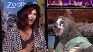 Christa Thompson With Zootopia's Flash