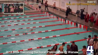 IHSAA Boys Swimming Sectional Preliminaries@ Warsaw
