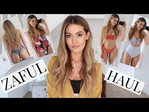 ZAFUL SWIMWEAR HAUL AND TRY ON - BIKINI & SWIMSUIT MAY 2018