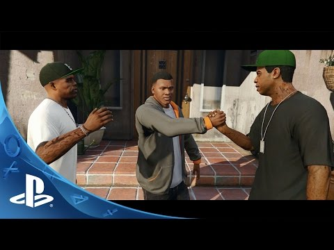 Commercial for Grand Theft Auto V, and PlayStation 4 (PS4) (2014 - 2015) (Television Commercial)
