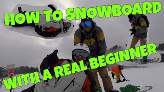 Gambar cover How to Snowboard with a REAL BEGINNER!