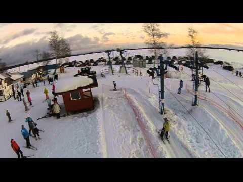 Видео: Видео горнолыжного курорта Шакша, Спортивный клуб в Ярославская область