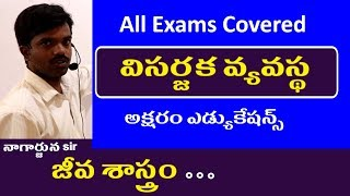 విసర్జక వ్యవస్థ || Biology Classes in Telugu || General Science Classes All Exams Covered