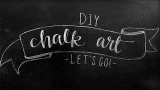 Chalkboard Art Lettering Tutorial + DIY Chalkboard Design Tips