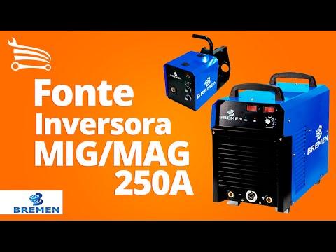 Fonte Inversora MIG/MAG com Cabeçote Externo 250A Trifásico 380V - Video
