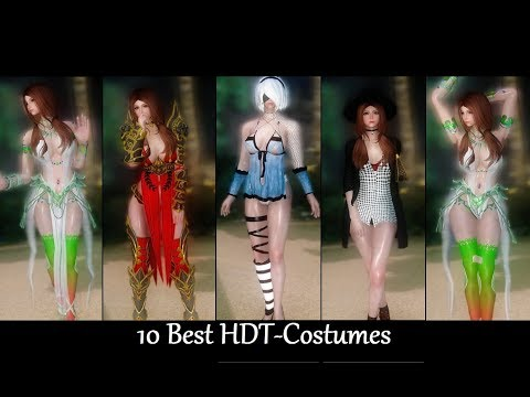 Skyrim Mods: 10 Best HDT-Costumes p1 (Female) - смотреть онлайн на