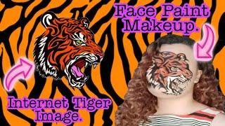Tiger Face Art. #TigerMakeup #Tiger #FaceArt