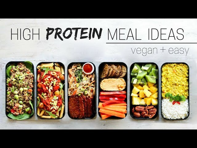 HIGH PROTEIN VEGAN MEAL IDEAS » bento box
