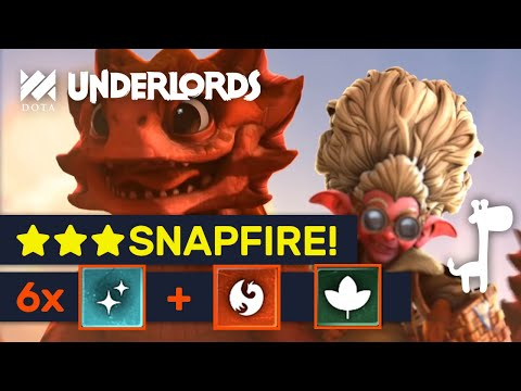 ★★★ SNAPFIRE! High Rank Dragon Druids 6 Mages Build! | Dota Underlords
