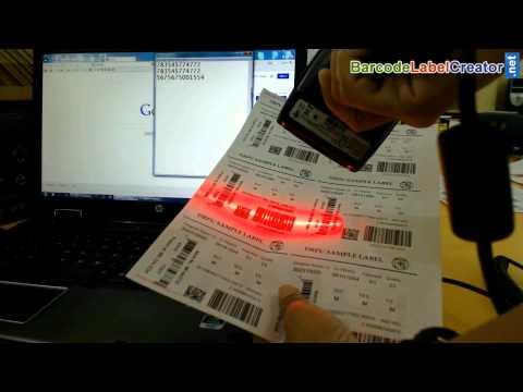 Arbeiten von Barcode-Scanner