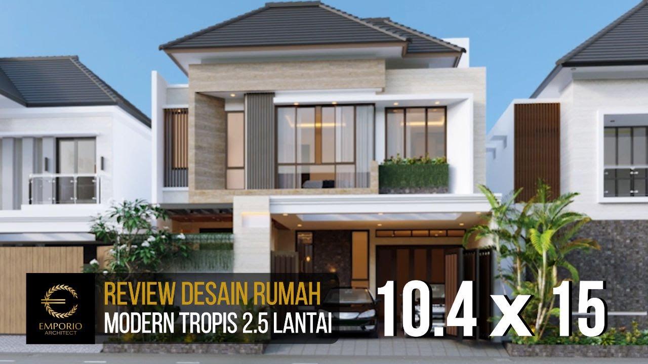 Video 3D Desain Rumah Modern 2.5 Lantai Bapak Didi di Jakarta Selatan