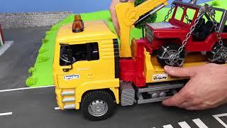 Fire Truck, Excavator, Dump Trucks, Tractor & Bulldozer | Bruder Construction Toy Vehicles for Kids