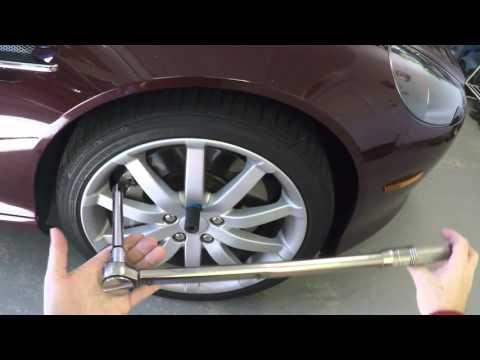 Preparing an Aston Martin DB9 Road Wheel for Removal