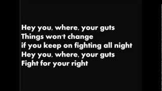 A.C.A.B. -  fight for your right (lyric)