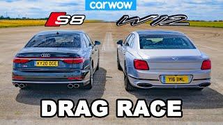 [carwow] Audi S8 vs Bentley Flying Spur - DRAG RACE *V8 vs W12*