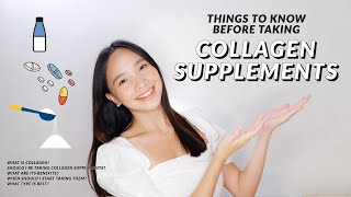 THINGS YOU NEED TO KNOW BEFORE TAKING COLLAGEN SUPPLEMENTS I BENEFITS OF COLLAGEN