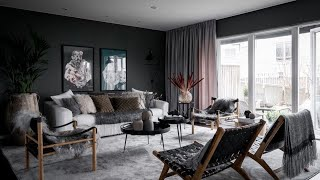 Interior Design | Scandinavian House Tour • Dark Grey Walls