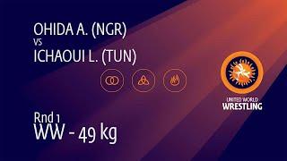 Round 1 WW - 49 kg: A. OHIDA (NGR) v. L. ICHAOUI (TUN)