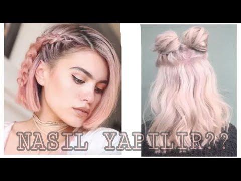 Okul için Tumblr saçlar nasıl yapılır kolay ve harika saçlar