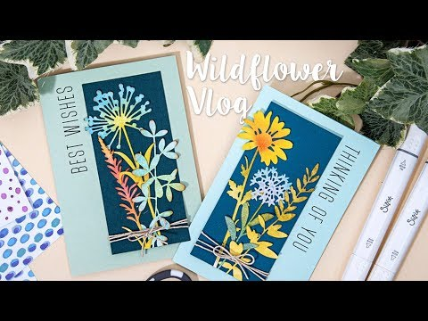 Floral Cards using new Tim Holtz dies with Pete Hughes