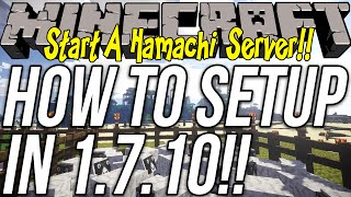 How To Make A Minecraft Server Using Hamachi Mac Under Minutes - Minecraft 1 7 10 server erstellen hamachi