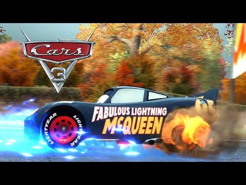 Cars 3 Movie English Game Fabulous Lightning McQueen Dinoco Cup