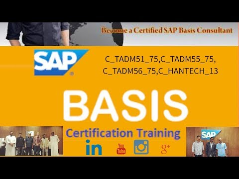 SAP BASIS Certification -DB Administration PART14 - YouTube