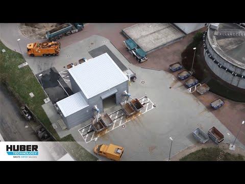 Video: HUBER Sandaufbereitungsverfahren RoSF5 auf der Kläranlage Frankfurt-Niederrad