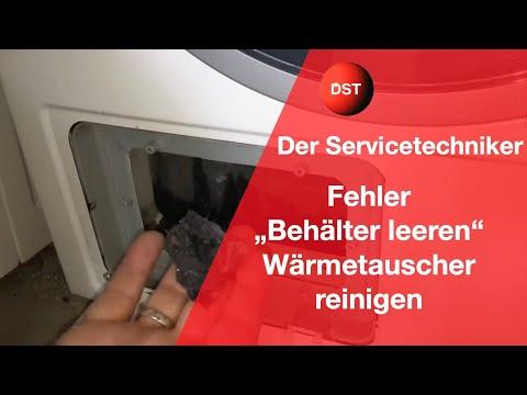 Bosch, Siemens Wärmepumpentrockner Wärmetauscher reinigen/ dryer