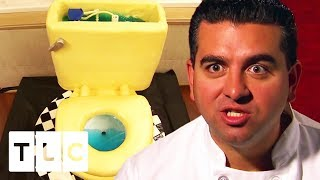 A Toilet Cake That Really Flushes!   Cake Boss