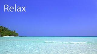 Relaxing Sunday - Peaceful Ocean Sounds and Seagulls - Calming Island Beach
