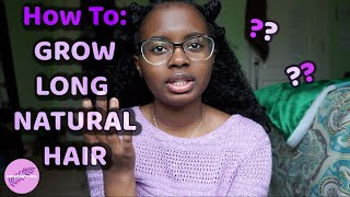 How To: Grow LONG NATURAL HAIR | Hair Tips