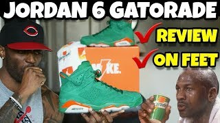 JORDAN 6 GREEN GATORADE REVIEW & ON FEET 🔥🔥🔥