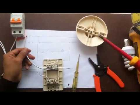 Cómo conectar un interruptor y una toma eléctrica - Instalación de interruptor y tomacorriente