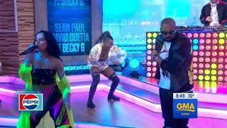 Sean Paul, David Guetta, Becky G - Mad Love  On Good Morning America
