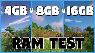 Minecraft | 4GB Vs 8GB Vs 16GB RAM | SHADERS TEST Benchmarks