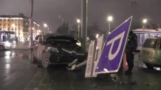 Авария с участием рейсового автобуса на ул. Серафимовича