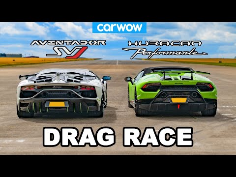 Lamborghini Aventador SVJ vs Huracan Performante DRAG RACE